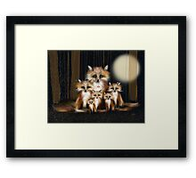 Fox Family Framed Print