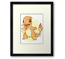 Charmander Splatter Framed Print