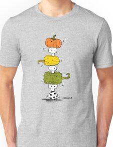 Pumpkin Skull Totem Pole Unisex T-Shirt