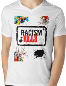 RACISM KILLS Mens V-Neck T-Shirt
