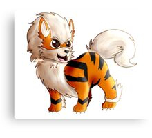 Chibi Arcanine From Pokemon Canvas Print