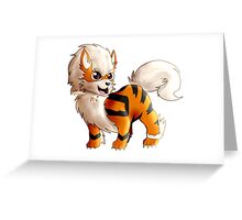 Chibi Arcanine From Pokemon Greeting Card