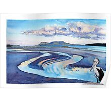 Prosser River Mouth with Pelican, Orford Poster