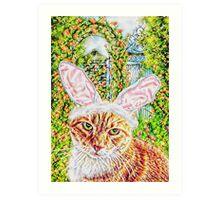 Easter Kitty Art Print