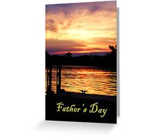 Father's Day Boat Dock Greeting Card