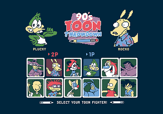 90's Toon Throwdown by thehookshot