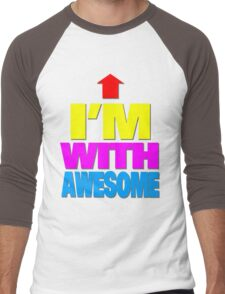 I'm with awesome Men's Baseball ¾ T-Shirt