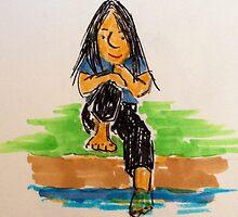 Daily Drawing Ten - communing by carol selchert