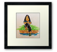 Daily Drawing Ten - communing Framed Print