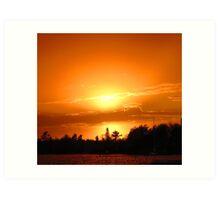 Halo Sunset Art Print