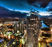 Broadbeach night sky  by joeferma