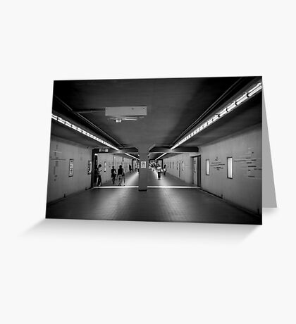 Kyoto Station Subway Greeting Card