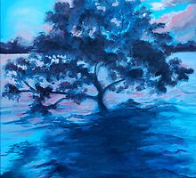 Tree in the ocean Oil painting by Mark Malinowski