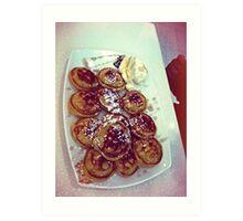 Pancakes with Maple Syrup & Icecream Art Print