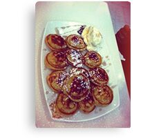 Pancakes with Maple Syrup & Icecream Canvas Print