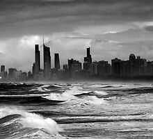 Rough Seas, Gold Coast, Australia by bidkev1
