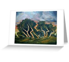 Cyprus trees oil painting Greeting Card