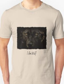 Midnights Gaze - Black Wolf Wild Animal Wildlife Unisex T-Shirt