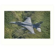 Dutch Air Force F16 low pass in the Mach Loop Art Print