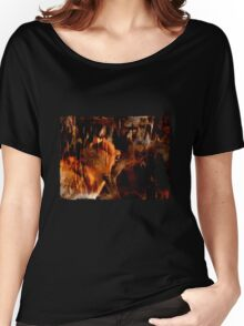 Alpha Male, Wolf Challenge, Battling Wolves Women's Relaxed Fit T-Shirt