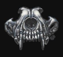 Wolf Skull (Black & White) Kids Tee