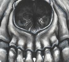Wolf Skull (Black & White) Sticker