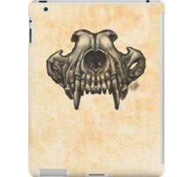 Wolf Skull (Black & White) iPad Case/Skin