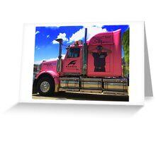 Pink Semi Greeting Card