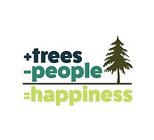 Earth Day Design +trees -people =happiness by ginpix