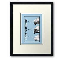 I-Spy Scimitars Tee Framed Print