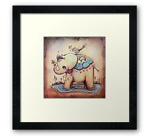 Little Diana the Vintage Elephant Princess Framed Print