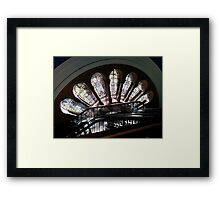 Stained Glass Windows - QVB Framed Print