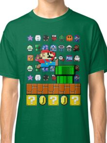 NES Mario 8-Bit Nintendo Characters Ugly Sweater Design Classic T-Shirt