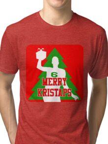 Merry Kristaps - Red Tri-blend T-Shirt