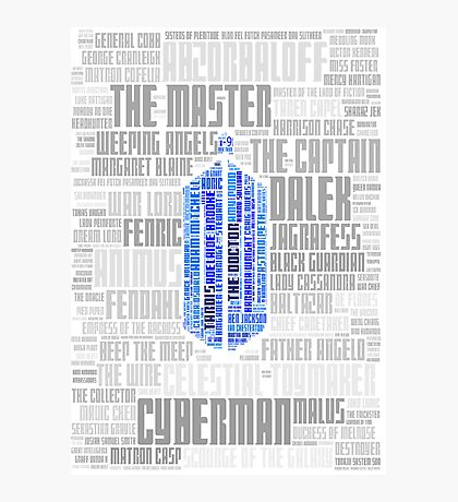 Doctor Who Villains and Companions Photographic Print