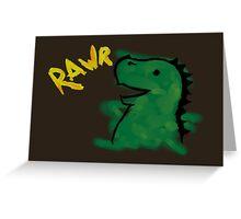 Halloween: Dino says RAWR Greeting Card