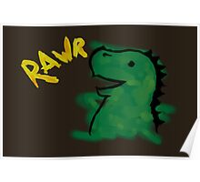 Halloween: Dino says RAWR Poster