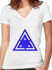 3rd Infantry Division, Republic of Korea Army Women's Fitted V-Neck T-Shirt