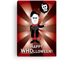 Dr Who Halloween Card 1 Canvas Print