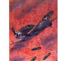 Bomber run Photographic Print