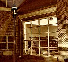 Display Window At the West Caldwell Firehouse by Jane Neill-Hancock