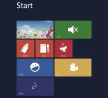 Parenting Start Menu - Windows 8 Kids Tee