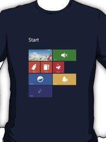 Parenting Start Menu - Windows 8 T-Shirt