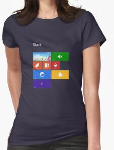 Parenting Start Menu - Windows 8 Womens Fitted T-Shirt