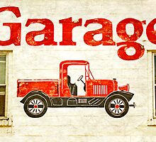 Old Garage by Valerie  Fuqua
