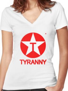 Tyranny Women's Fitted V-Neck T-Shirt