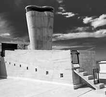 On the roof of Le Corbusier's Unité d'Habitation in Marseille - 1 by eyeshoot