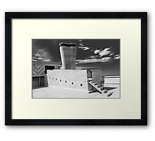 On the roof of Le Corbusier's Unité d'Habitation in Marseille - 1 Framed Print