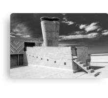 On the roof of Le Corbusier's Unité d'Habitation in Marseille - 1 Canvas Print