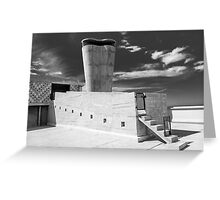 On the roof of Le Corbusier's Unité d'Habitation in Marseille - 1 Greeting Card
